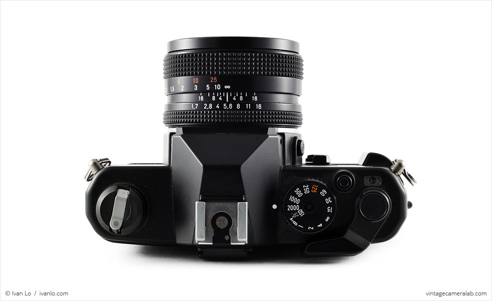 Yashica FX-3 Super 2000 (top view, with Carl Zeiss Planar T* 50mm f/1.7)
