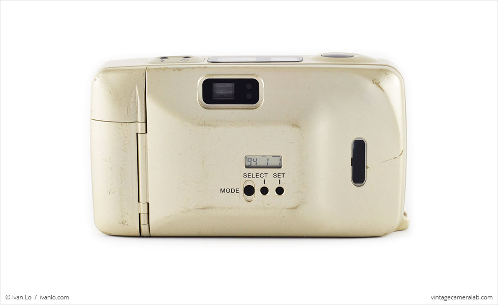 Yashica T4 Super D (rear view)