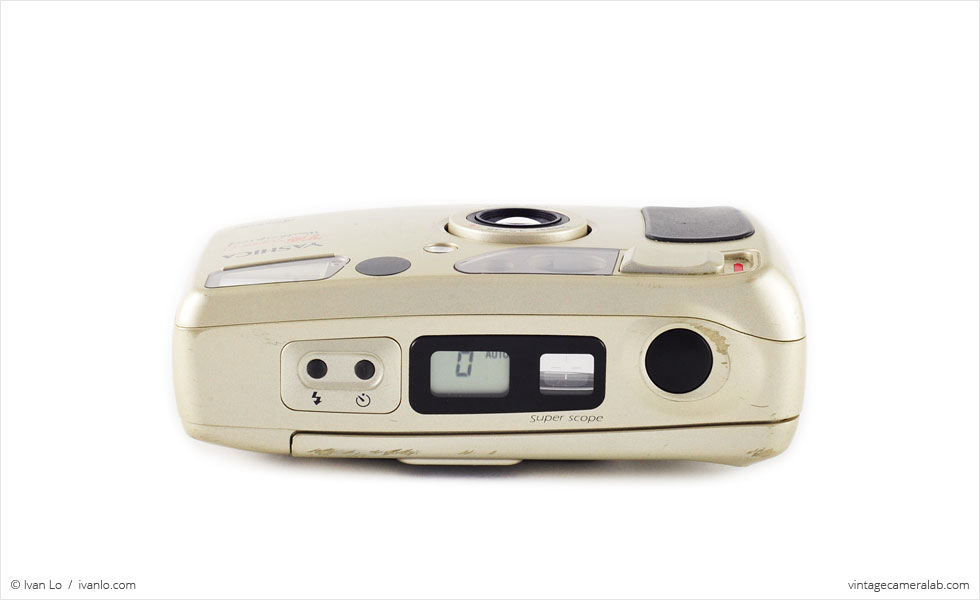 Yashica T4 Super D (top view, open)