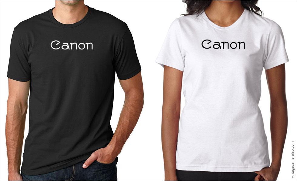 Canon vintage logo t-shirt at Vintage Camera Lab