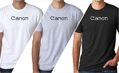 Canon vintage logo men's t-shirt at Vintage Camera Lab
