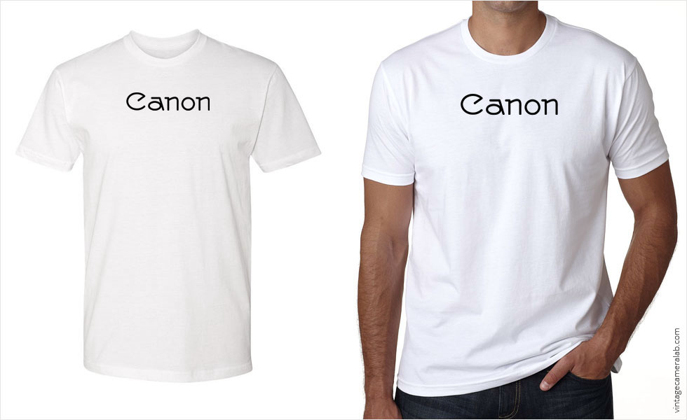 Canon vintage logo men's white t-shirt at Vintage Camera Lab