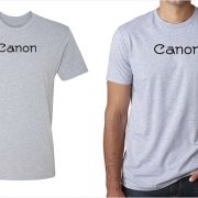 Canon vintage logo men's grey t-shirt at Vintage Camera Lab