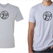 Fujifilm / Fuji vintage logo men's grey t-shirt at Vintage Camera Lab