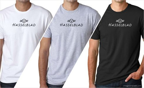 Hasselblad vintage logo men's t-shirt at Vintage Camera Lab