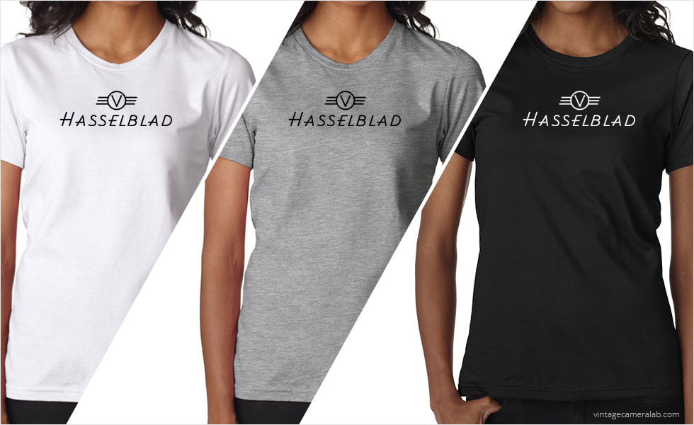 Hasselblad vintage logo women's t-shirt at Vintage Camera Lab