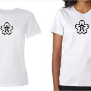 Konica vintage logo women's white t-shirt at Vintage Camera Lab