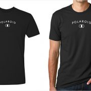 Polaroid vintage logo men's black t-shirt at Vintage Camera Lab
