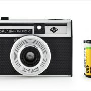 Agfa Isoflash-Rapid C (with 35mm cassette for scale)