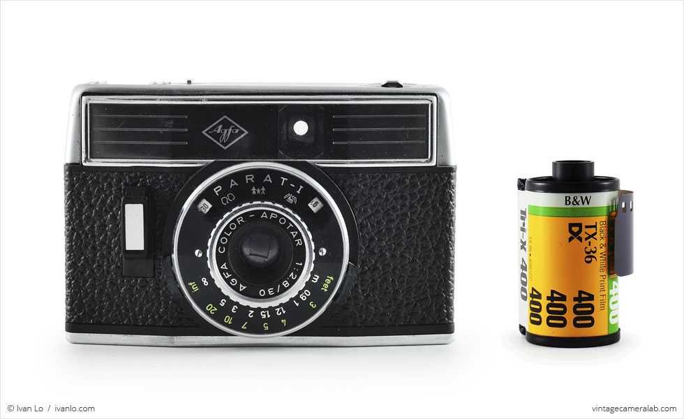 Agfa Parat-I (with 35mm cassette for scale)