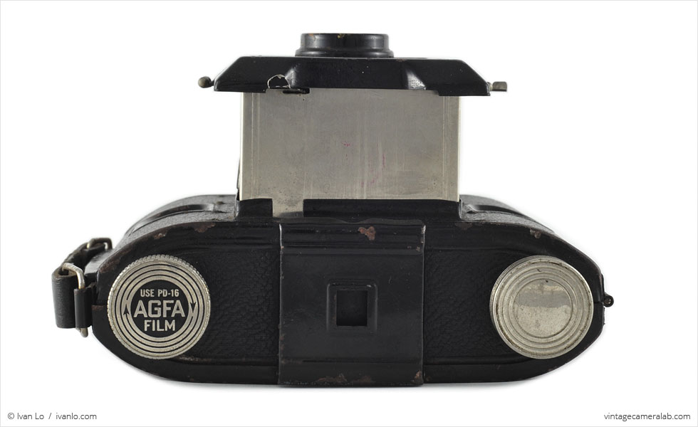 Agfa PD16 Clipper (top view, lens extended)