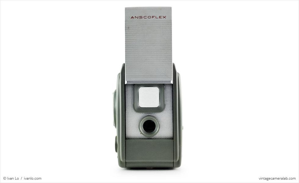 Ansco Anscoflex (front view, viewfinder open)