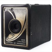 Ansco Century of Progress 1933 Chicago World's Fair camera (three-quarter view)