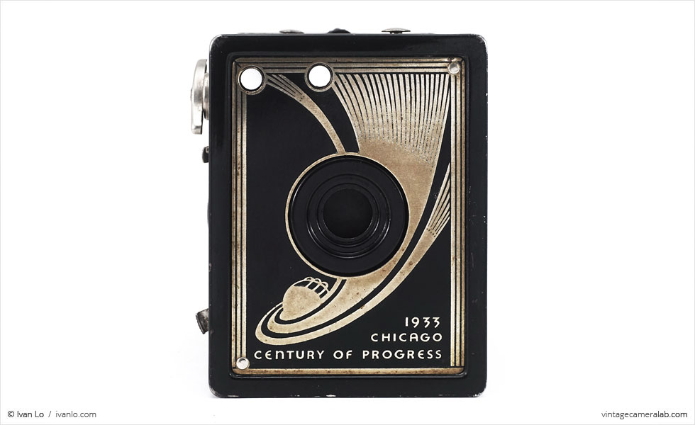 Ansco Century of Progress 1933 Chicago World's Fair camera (front view)
