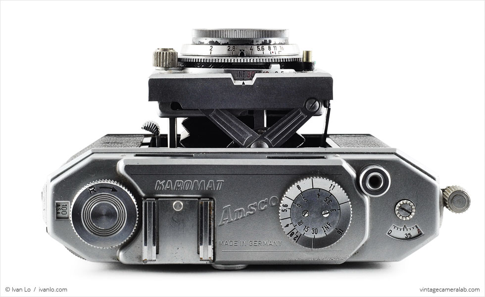 Ansco Karomat (top view, lens extended)