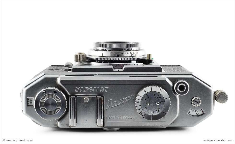 Ansco Karomat (top view, lens retracted)
