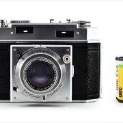 Ansco Karomat (with 35mm cassette for scale)