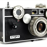 Argus C3 (three quarters, with Cintar 50mm f/3.5)