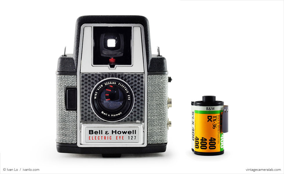 Bell & Howell Electric Eye 127 (with 35mm cassette for scale)