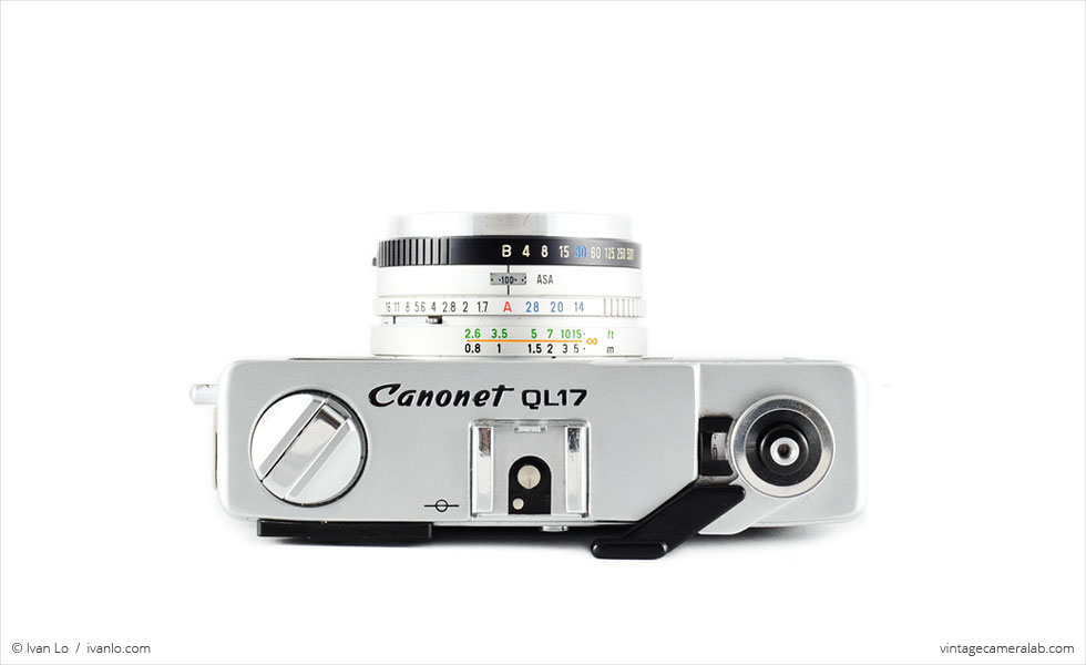 Canon Canonet QL17 G-III (top view)