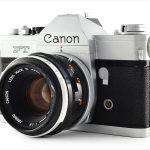 Canon FT QL (three quarters, with Canon FL 50mm f/1.8)