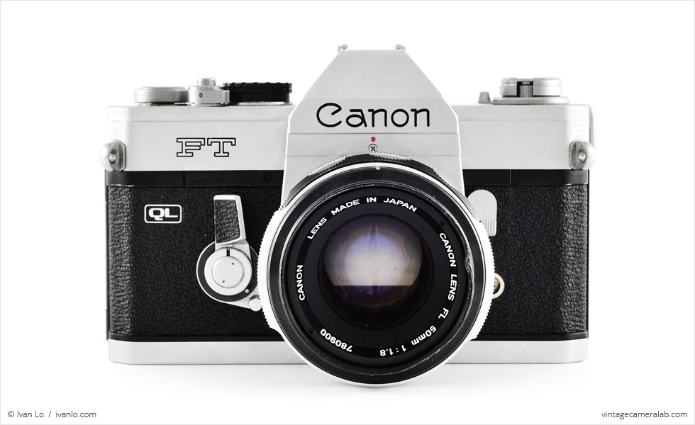 Canon FT QL (front view, with Canon FL 50mm f/1.8)