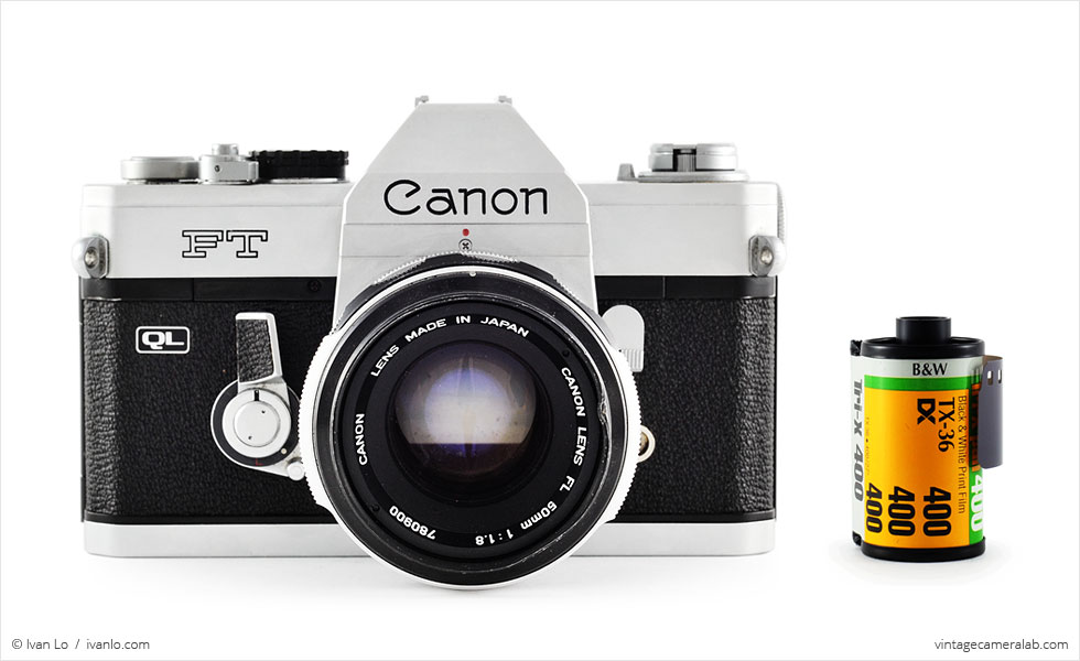 Canon FT QL (with 35mm cassette for scale)
