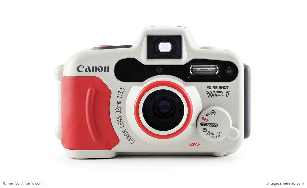 Canon Sure Shot WP-1 (front view)