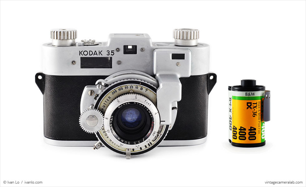 Kodak 35 RF (with 35mm cassette for scale)