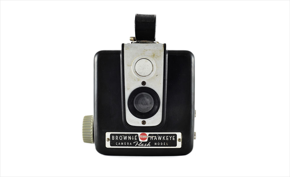 Kodak Brownie Hawkeye (front view)