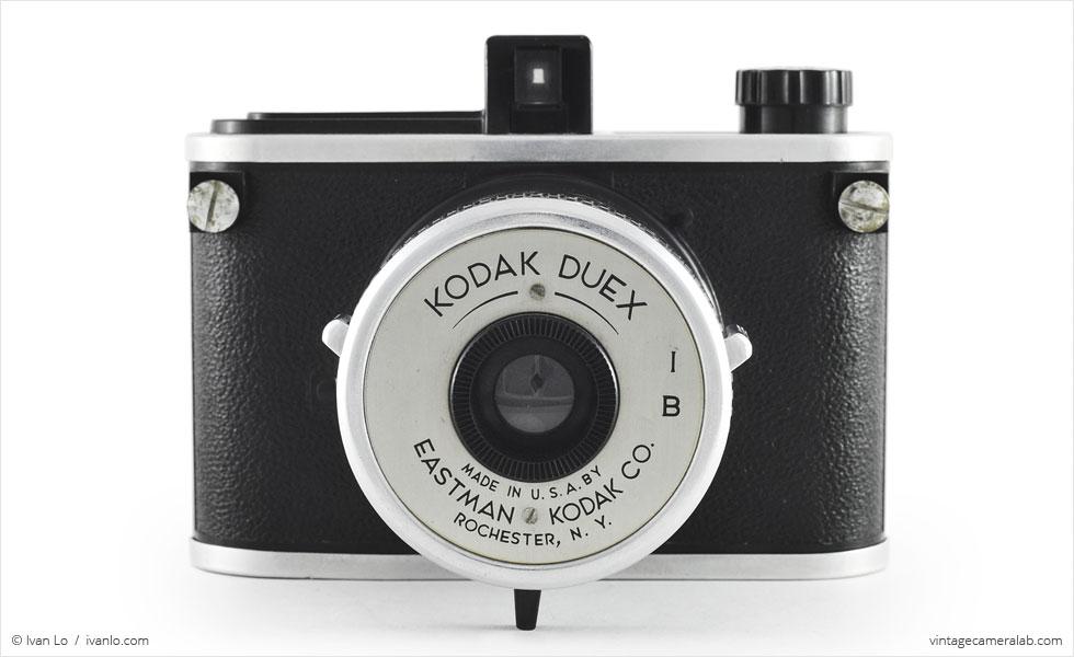Kodak Duex (front view, lens open)