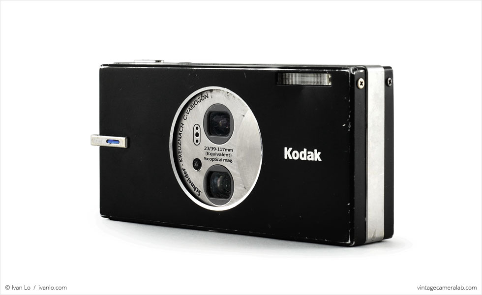 Kodak EasyShare V570 (three quarters, open)