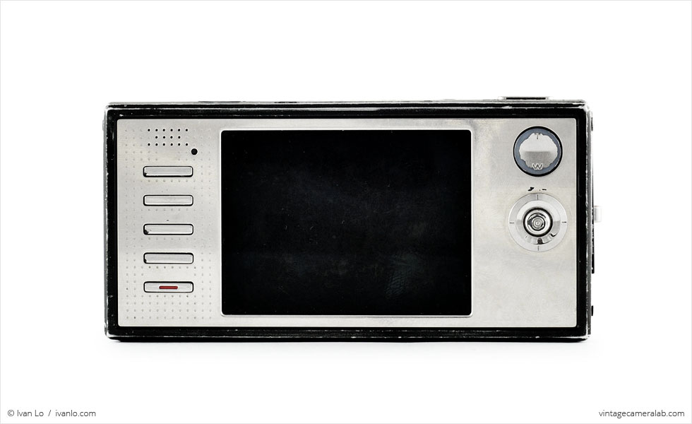 Kodak EasyShare V570 (rear view)