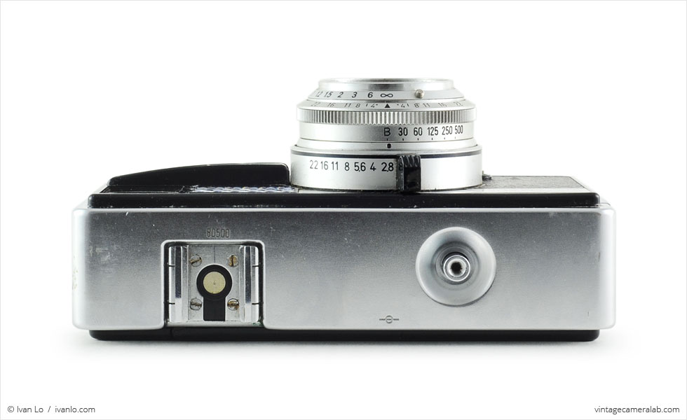Kodak Instamatic 500 (top view, lens extended)