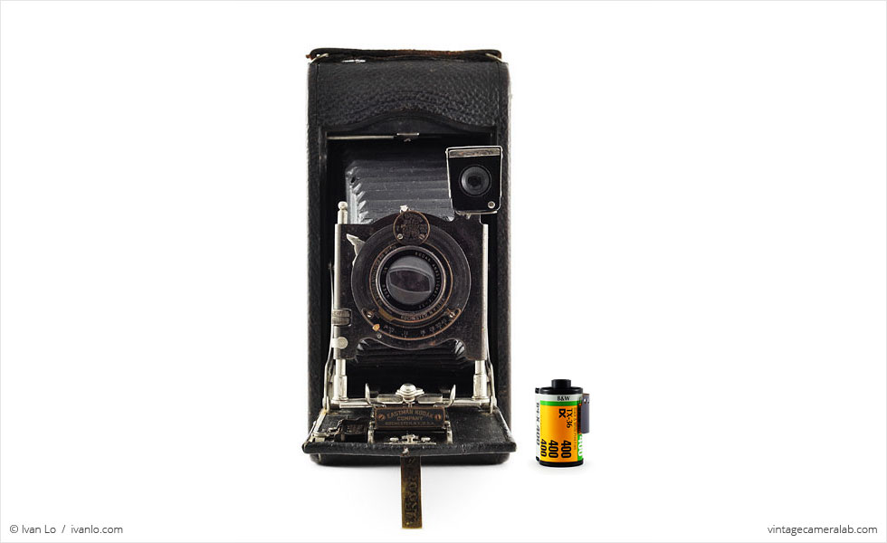 Kodak No.3A Autographic (with 35mm cassette for scale)