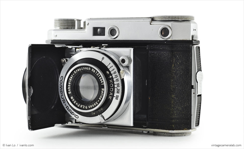 Kodak Retina II (three quarters, open}