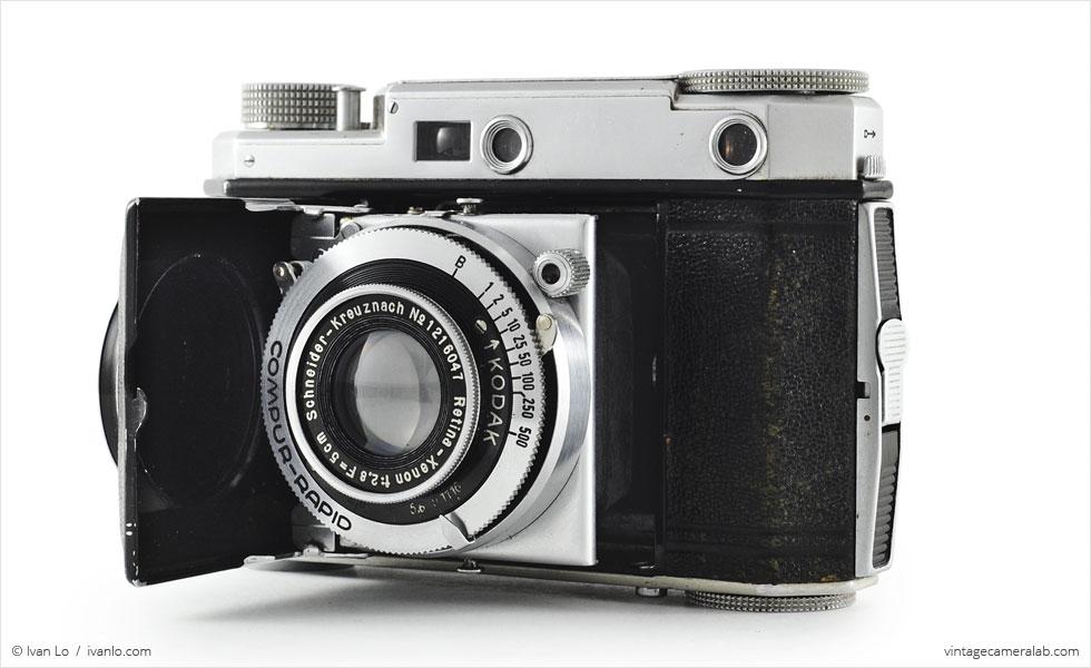 Kodak Retina II (three quarters, open}