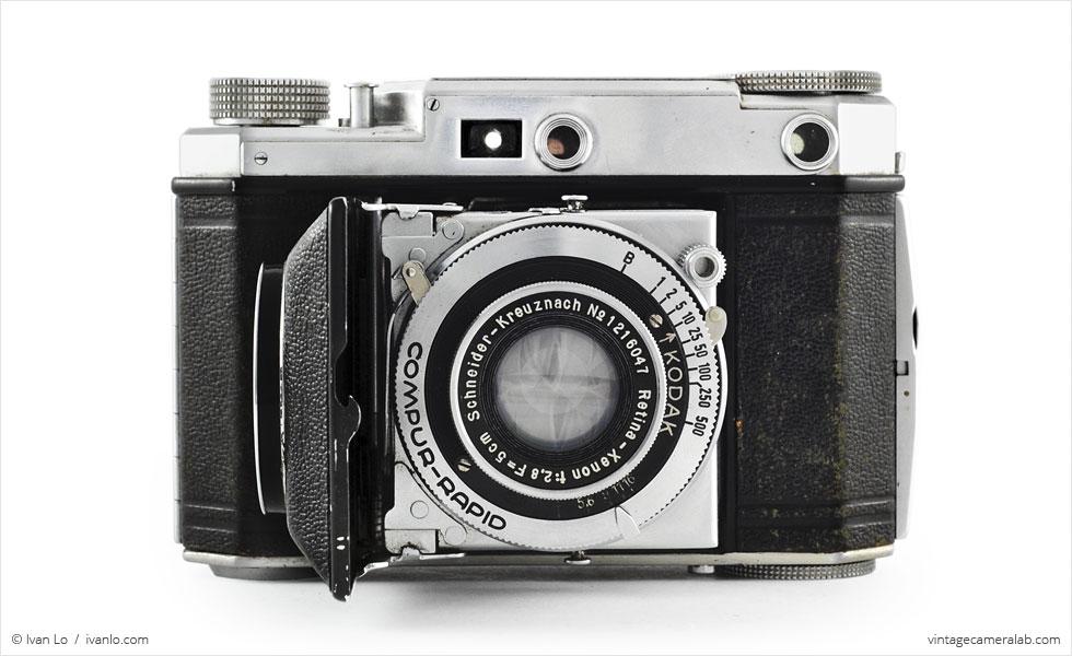 Kodak Retina II (front view, open}
