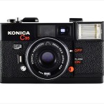 Konica C35 EF (front view)