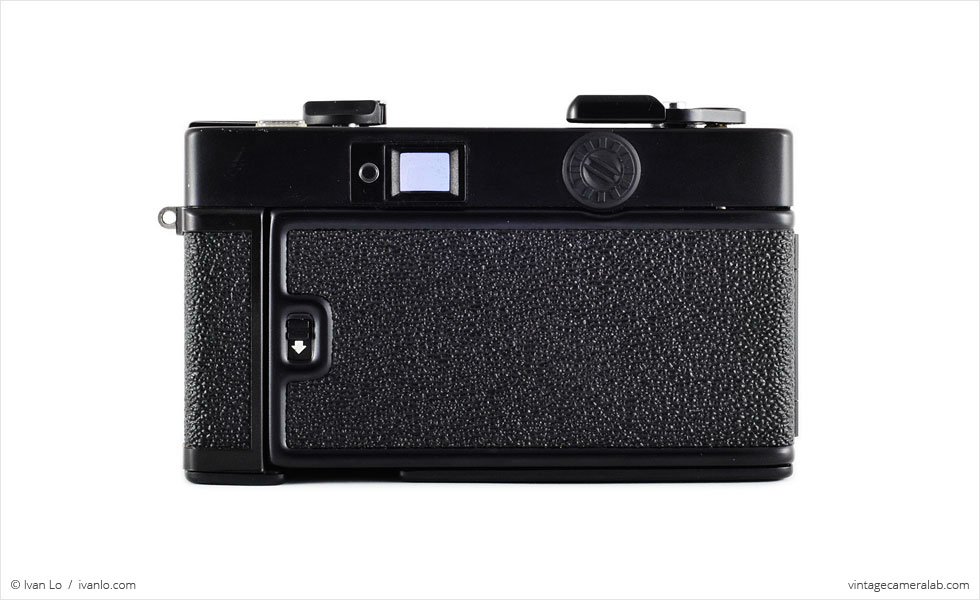 Konica C35 EF (rear view)
