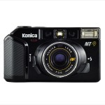 Konica MT-9 (front view, lens open)