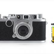 Leica IIf (with 35mm cassette for scale)