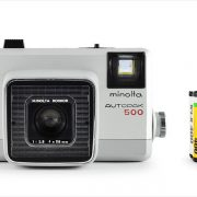Minolta Autopak 500 (with 35mm cassette for scale)