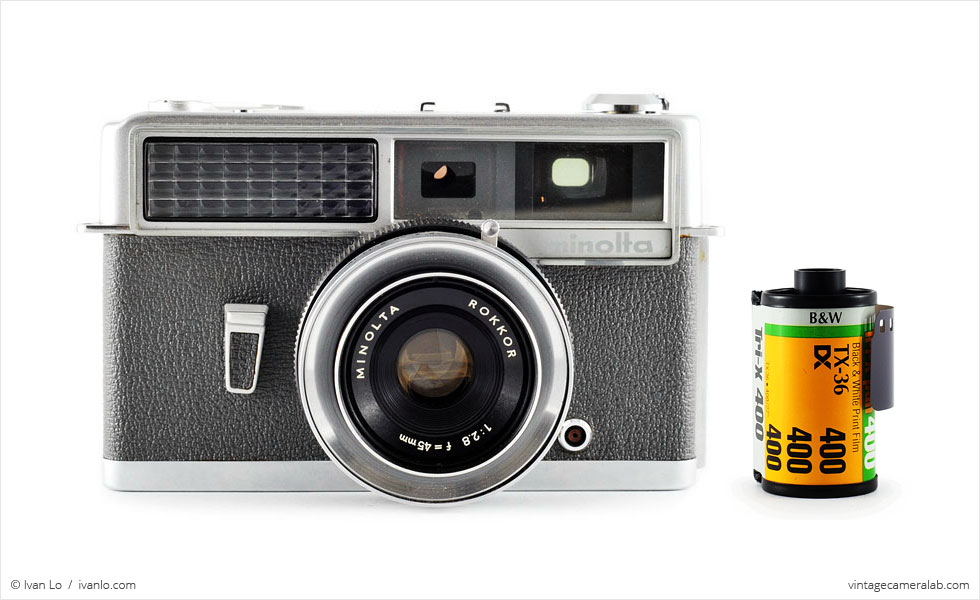 Minolta Hi-Matic (with 35mm cassette for scale)