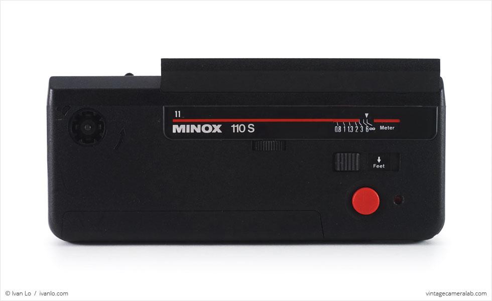 Minox 110 S (top view, open)