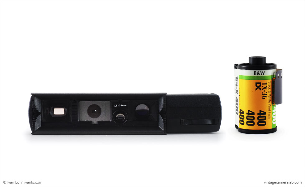 Minox 110 S (with 35mm cassette for scale)