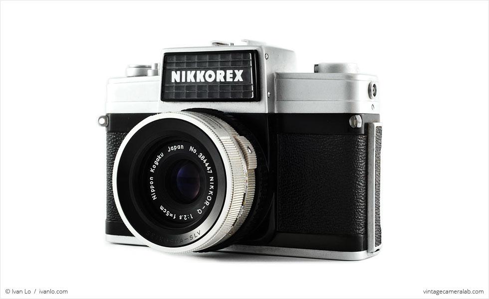 Nikon Nikkorex 35 II (three-quarter view)