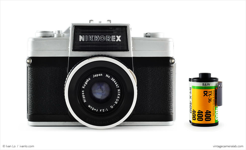 Nikon Nikkorex 35 II (with 35mm cassette for scale)