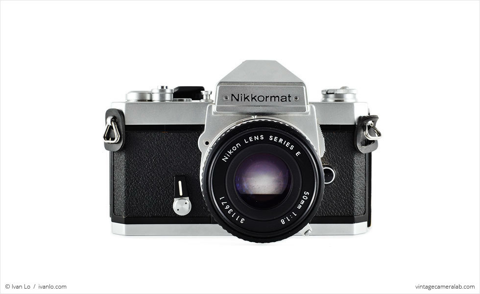Nikon Nikkormat FT3 (front view, with Nikkor 50mm f/1.8 lens)