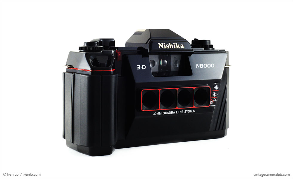 Nishika 3D N8000 (three-quarter view)